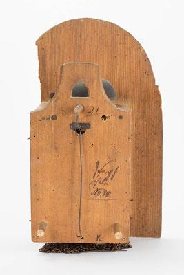 Rückseite, Schwarzwälder Schilderuhr um 1800
