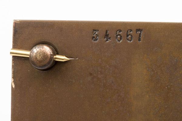 Nummerierung des Uhrwerkes,  Winterhalder & Hofmeier Dial Clock
