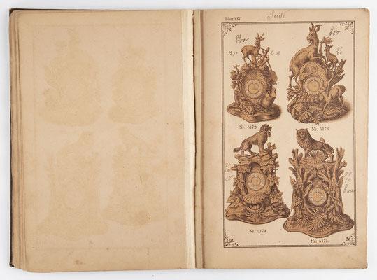 Kuckucksuhr Katalog um 1890, Schwarzwald Seite 25