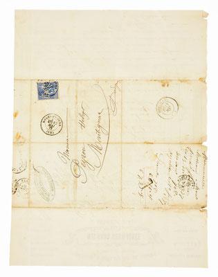 Michaud soeur ainée, Horloger á Morez, 12.05.1877, Briefhülle
