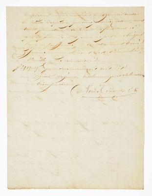 Vandel Aîné et Cie, Horloger á Morez 1835, Brief Seite 2