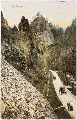 Höllental Postkarte 26.12.1906
