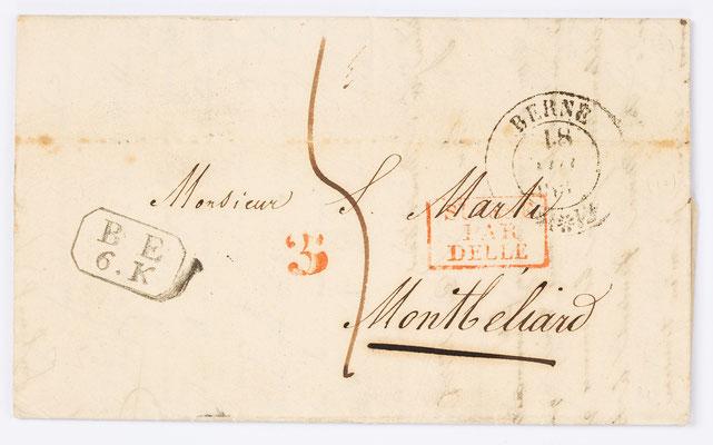 17. November 1837, Brief von I. Seiler (Bern) an Samuel Marti (Montbéliard)