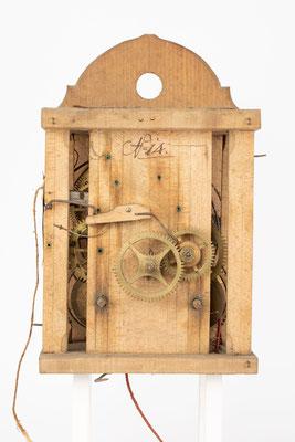 8 Tage Uhrwerk von Isidor Dorer aus Furtwangen Katzensteig (Schwarzwald), um 1850, Zifferblattseite