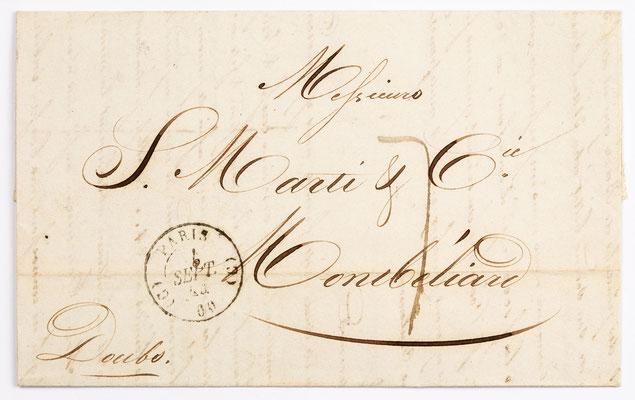 04. September 1844, Brief von S. Marti (Paris) an S. Marti & Cie. (Montbéliard)
