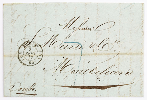 03. September 1843, Brief von S. Marti & Cie. (Paris) an S. Marti & Cie. (Montbéliard)