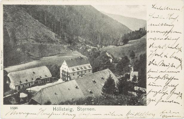 Höllseig, Gasthaus Sternen, Postkarte von 1906