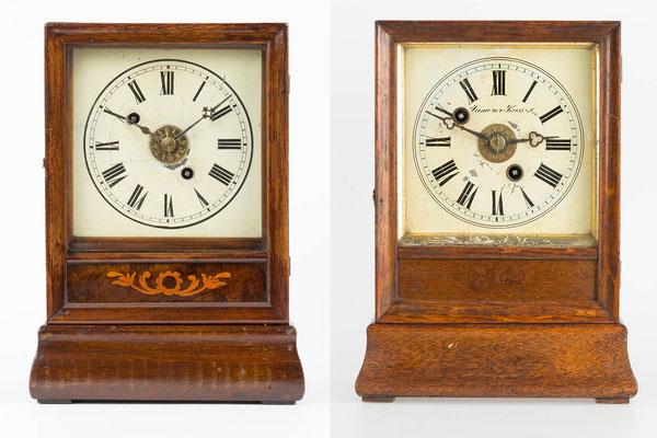 Cottage Clock, Winterhalder & Hofmeier, Gegenüberstellung (links mit Massivwerk)
