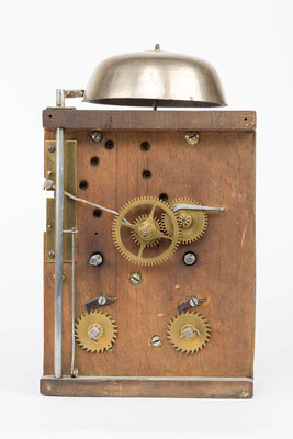 Uhrwerk der Bracket Clock von Matthä Winterhalder, Schwarzwald um 1855