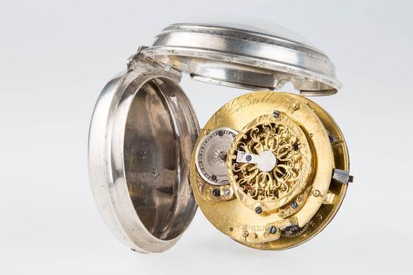 aufgeklappte Taschenuhr, G.H. Berblinger in Emmendingen um 1810