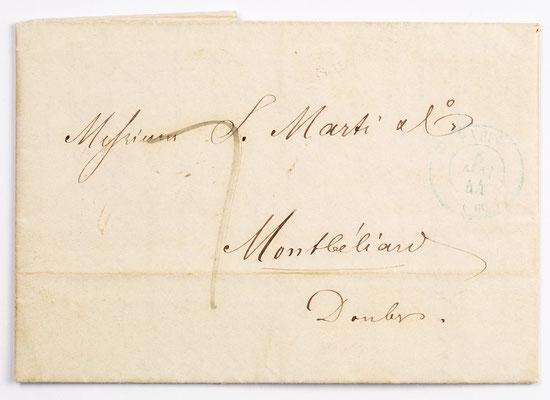 06. Mai 1844, Brief von S. Marti & Cie. (Paris) an S. Marti & Cie. (Montbéliard)