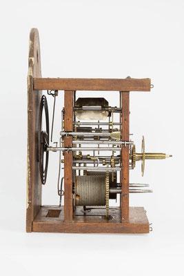 8-Tage Uhrwerk - Seitenansicht links - Fidel Krieger Uhrenmacher in Lenzkirch (Schwarzwald) um 1850