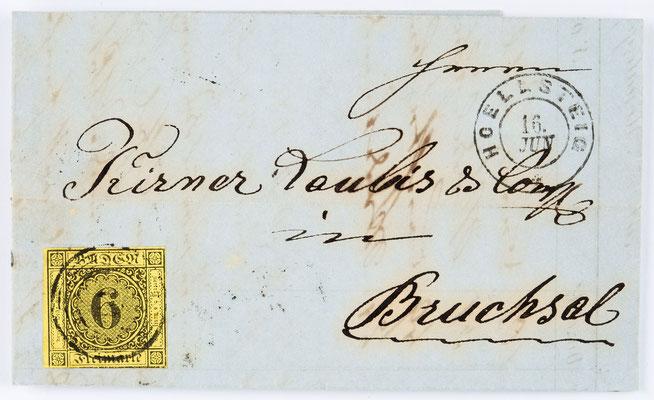 Löffelschmied Herrmann Feser von Hinterzarten, Brief 15.06.1860 Briefhülle