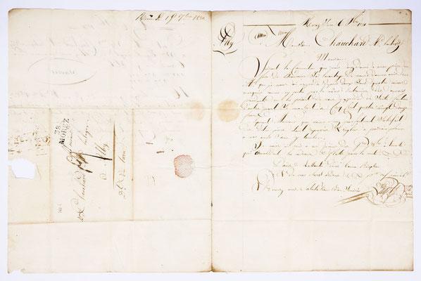 Joseph Augustin Paget, Horloger, Lettre de Morez 06.07.1820, Page 1