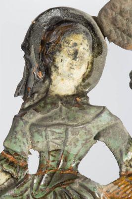 Detail Frau, Zustand vor der Restaurierung