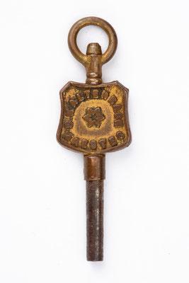 Taschenuhrenschlüssel von B. Kaltenbach, Maesteg