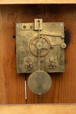 Stockuhr nach der Restaurierung, Detail Uhrwerk