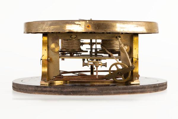 Regulator Uhrwerk mit Zifferblatt, Furderer, Jaegler & Cie, Strasbourg, Ansicht von unten