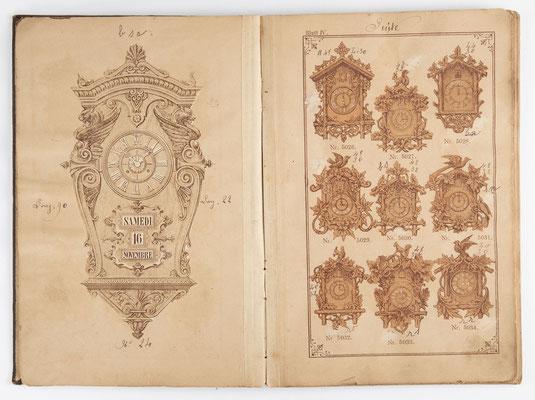 Kuckucksuhr Katalog um 1890, Schwarzwald Seite 4