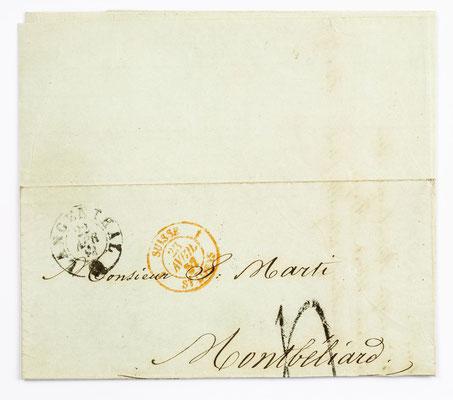 21. April 1857, Brief von Eduard Muralt (Langenthal) an S. Marti & Cie. (Montbéliard)