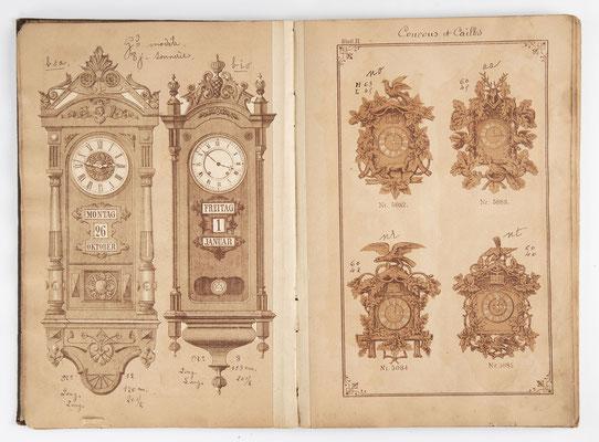 Kuckucksuhr Katalog um 1890, Schwarzwald Seite 11