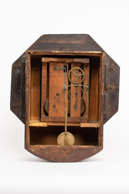 Camerer Kuss & Co., Drop Dial Clock, 1876, Rückseite