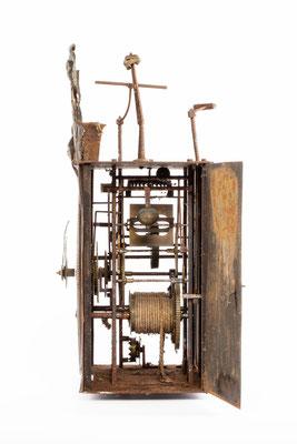 Comptoise Uhr, Frankreich um 1850, Seitenansicht von rechts