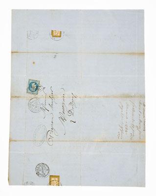 Morel & Fils, Horloger á Morbier, 19. Januar 1870, Briefhülle