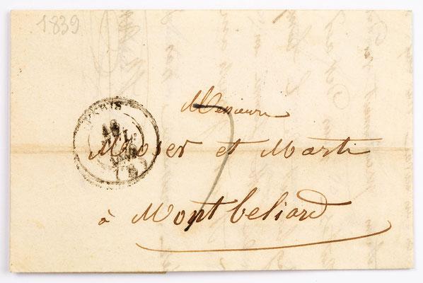 18. Juli 1839, Brief von Johann Reveilhac & Fils (Paris) an Moser & Marti (Montbéliard)
