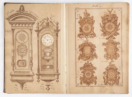 Kuckucksuhr Katalog um 1890, Schwarzwald Seite 10