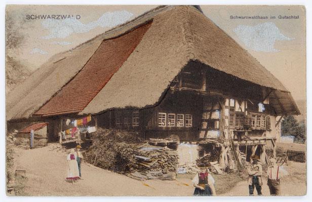 Postkarte, Schwarzwaldhaus, nach 1904