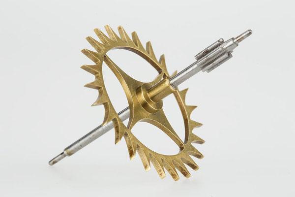 Ankerrad (Drop Dial Clock, England 19. Jahrhundert)