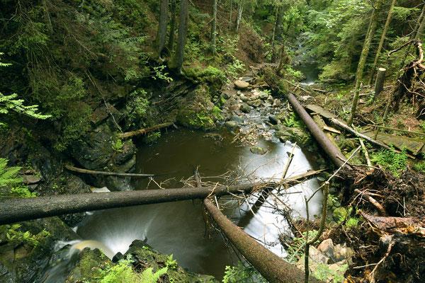 Falkauer Wasserfall von Oben