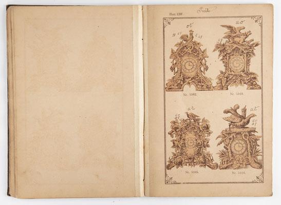 Kuckucksuhr Katalog um 1890, Schwarzwald Seite 22