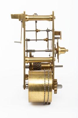 Englisches Uhrwerk, Wiliam A. Sainsbury,  London 1894, Seitenansicht