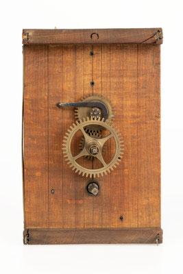 Uhrwerk von Mathias Behringer, Langenordnach Schwarzwald um 1865, Zifferblattseite