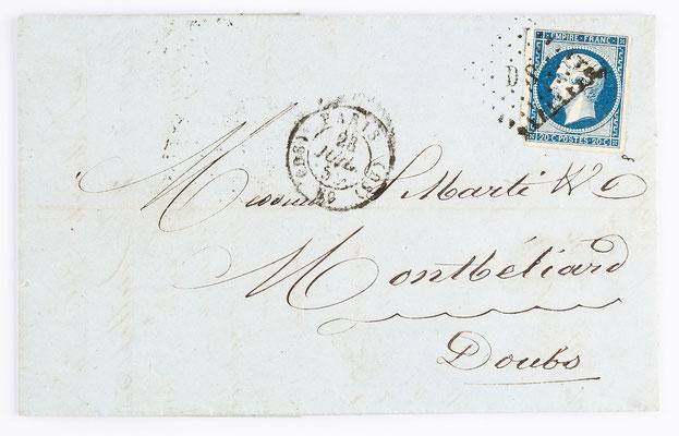07. Juli 1855, Brief von S. Marti (Paris) an S. Marti & Cie. (Montbéliard)