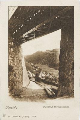 Höllsteig, Durchblick Ravennaviadukt, Postkarte um 1910
