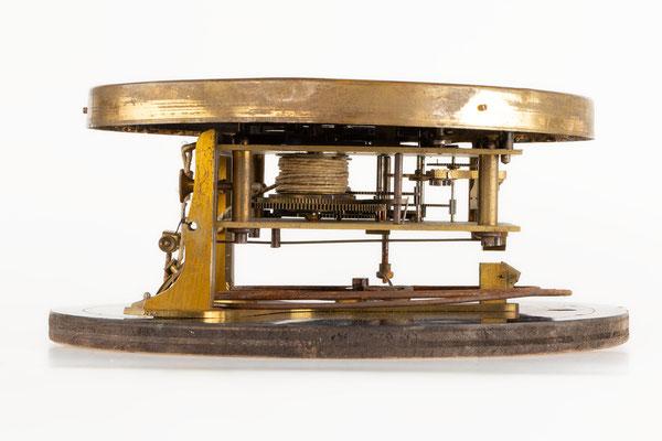 Regulator Uhrwerk mit Zifferblatt, Furderer, Jaegler & Cie, Strasbourg, Seitenansicht