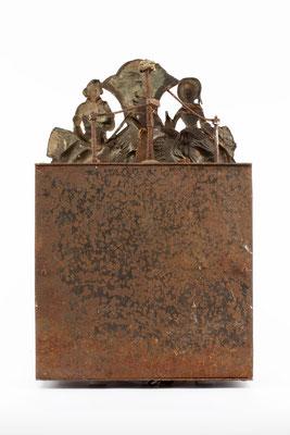 Comptoise Uhr, Frankreich um 1850, Rückseite