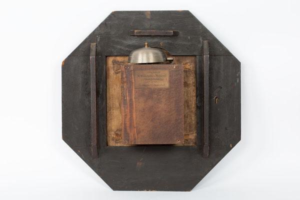 Rückseite des Uhrenkopfes