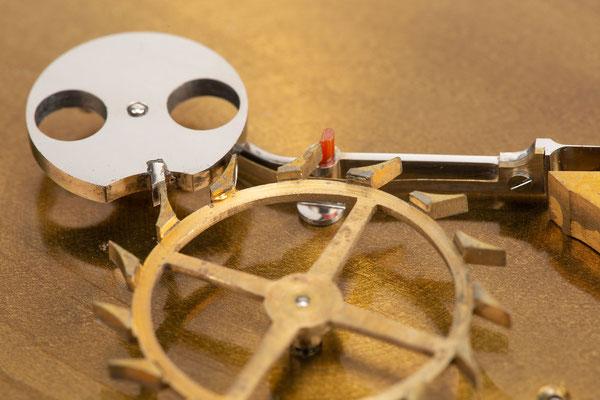 Chronometergang mit Gangfeder, Detailfoto