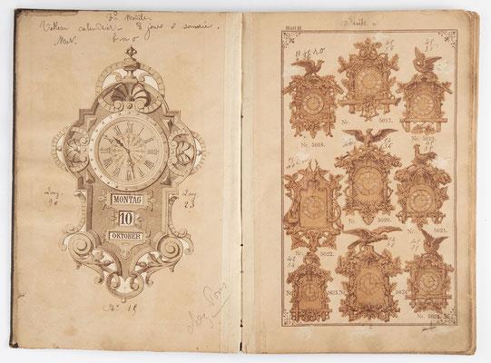 Kuckucksuhr Katalog um 1890, Schwarzwald Seite 3