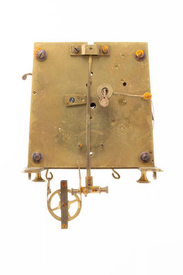 Regulator Uhrwerk, Furderer, Jaegler & Cie, Strasbourg, Rückseite
