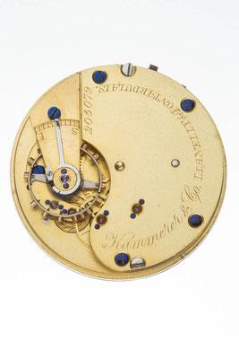 englisches Taschenuhrwerk, Händlersignatur von Kammerer & Co., Lianelly & Pontardulais