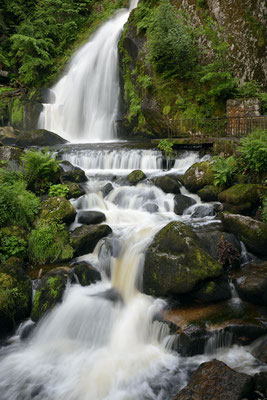 Triberger Wasserfall, unterer Teil des Hauptfalles
