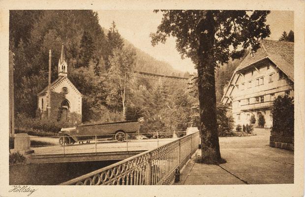 Lastkraftwagen beim Sternen in Höllsteig, um 1910