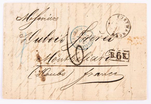 Brief von Lamy & Cie nach Montbelirad, Furtwangen 1868