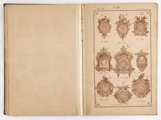 Kuckucksuhr Katalog um 1890, Schwarzwald Seite 19