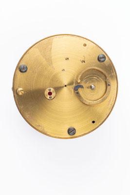 Chronometergang mit Gangfeder, Uhrmacherschule Furtwangen, um 1925, nach der Restaurierung, Boden